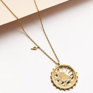 Dawning on New Day Gold Coin Necklace